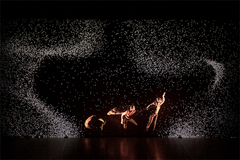 dance and light projection performance piece