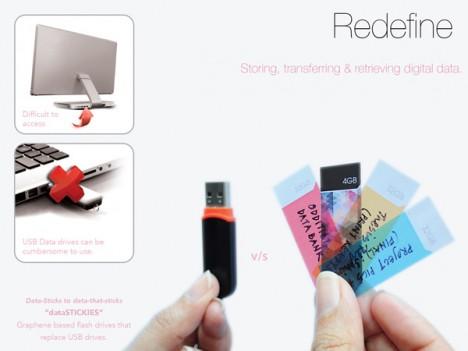 data stickies flash drives
