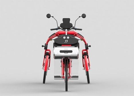 front view johanson3 electric scooter bike