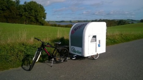 mobile bike camper picture