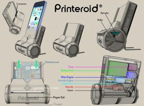 printeroid portable apple device printer