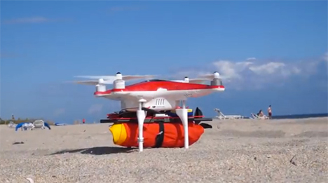 Rescue From Above: Inflating Float Ring Clips Onto Drone ...