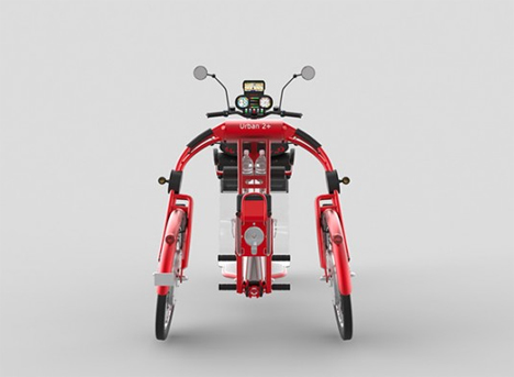 rear view johanson3 electric scooter bike