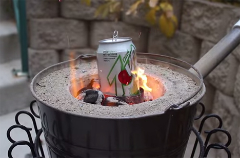 too hot to handle backyard foundry melts cans in seconds gadgets