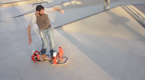 working leaf blower hoverboard