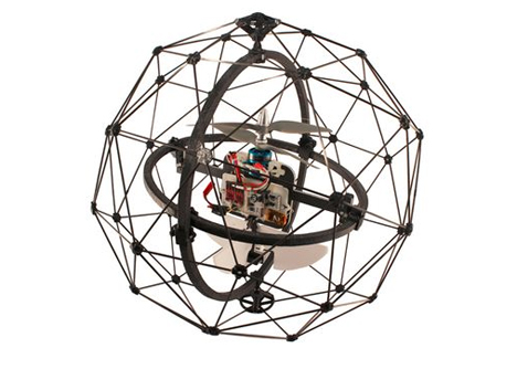 cage protected flying drone