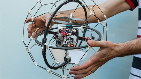 gimball drone in a cage