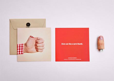 portfolio severed thumb drives