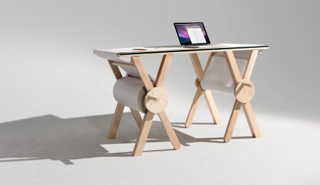 analog memory desk design