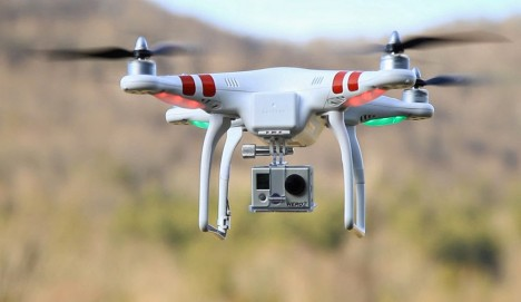 dji drone copter camera