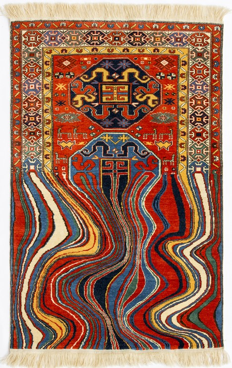 handmade oil like rug