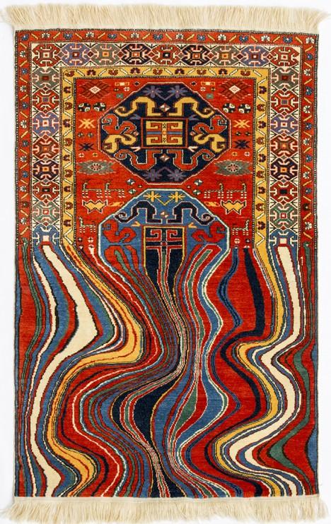 handmade oil like rug
