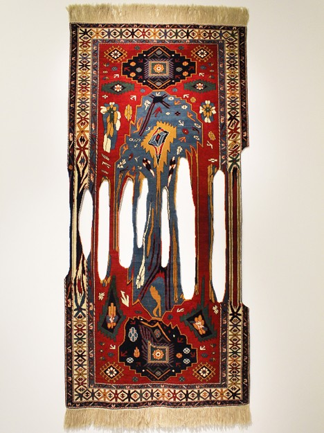 handmade rip style rug