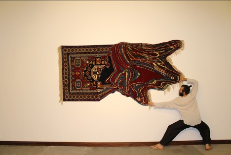 handmade stretched distorted art