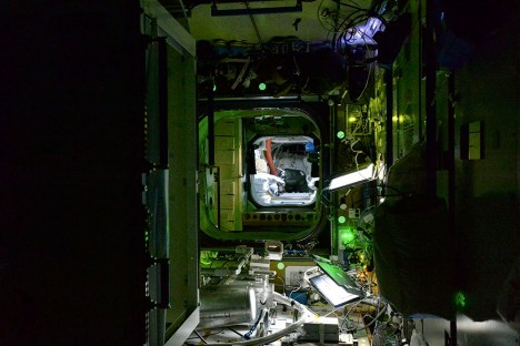 international space station interior