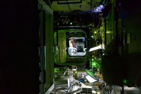 international space station interior