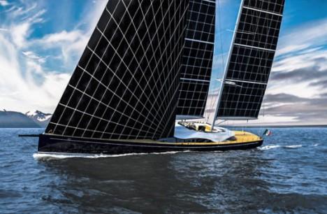 Sun Powered Sailboat Yacht Features Flexible Solar Sails