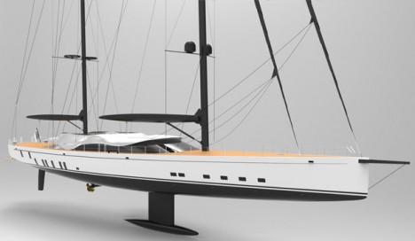 solar sailing vessel model