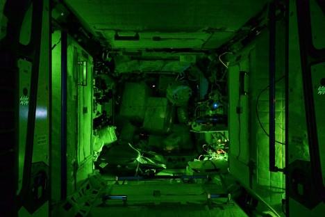 space deserted eerie light