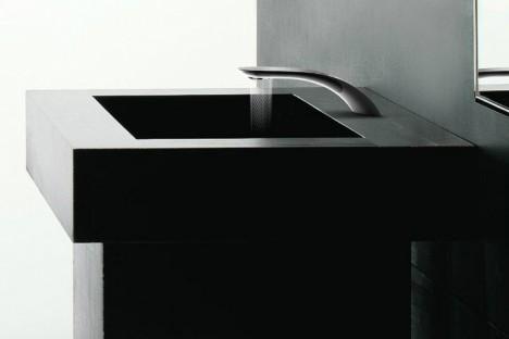 swirl faucet pattern sink
