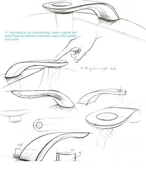 swirl faucet tap design
