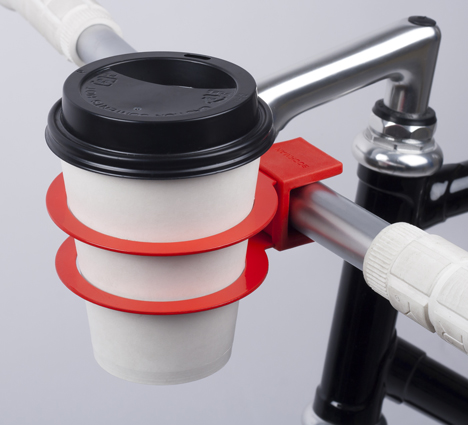 Snap-On Cup Holder for Bikes Clamps Onto Any Handlebars ...