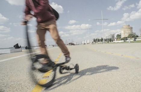 half bike in motion