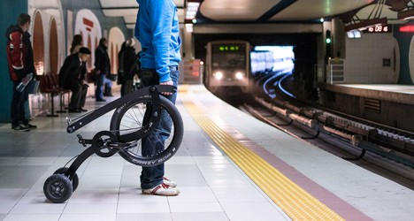 half bike subway platform