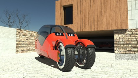lane split motorbike car