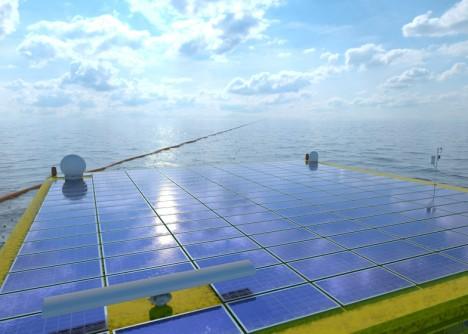 ocean tower solar panels