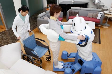 robot bear extendable platform