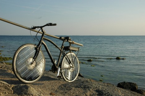 solar bike charging sun