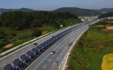 20 Miles Of Solar Panels Give Bikers Shelter Along Highway