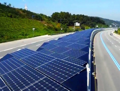 solar topped bike path