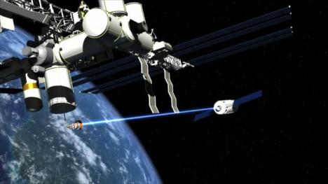 space laser debris system