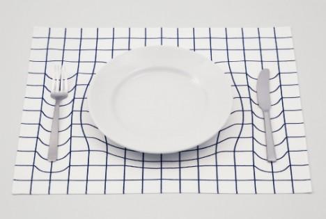 spacetime einstein inspired tableware