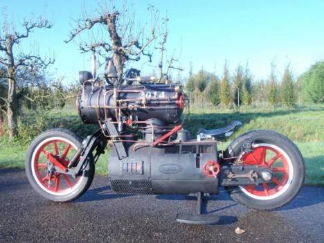 steam engine powered cycle