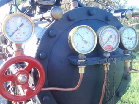 steam powered custom bike