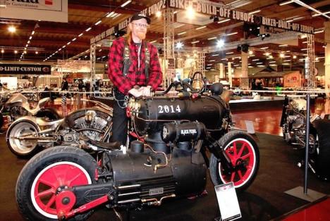 steampunk motorbike design