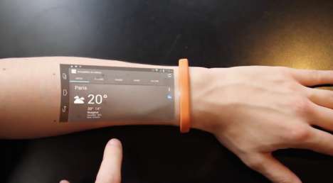 wearable arm projection device
