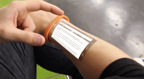 wearable wrist arm projector
