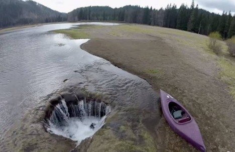 mysterious draining lake