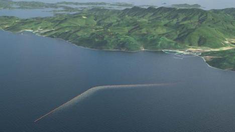 ocean array aerial view