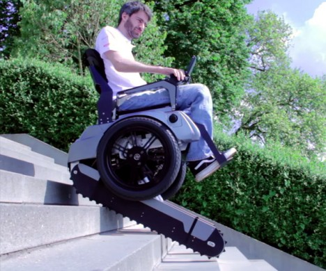 Upwardly Mobile Wheelchair Climbs Staircases With Ease