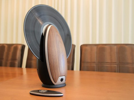sculptural record player