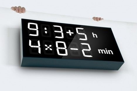digital math wall clock