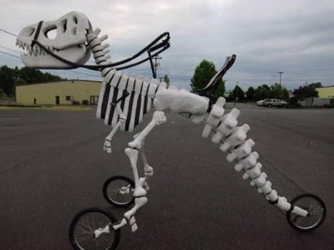 dinosaur skeleton trike