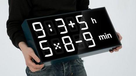 math based digital wall clock