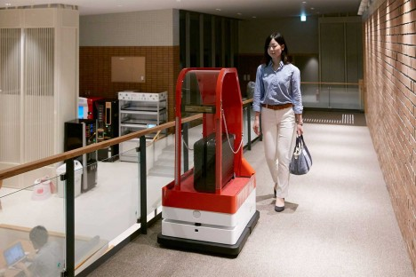robot luggage cart