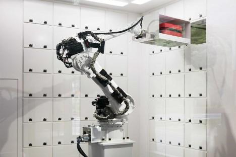 robot luggage check